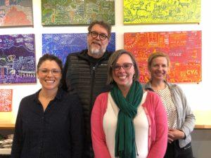 Picture of steering committee: Danielle Schulz, Damon McLeese, Heather Pressman, Robin Gallite